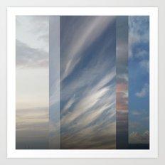 Northern Sky Fragments 1 Art Print