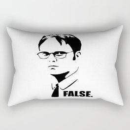 False funny office sarcastic quote Rectangular Pillow