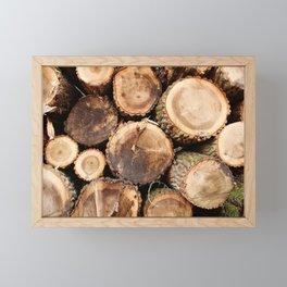 Cut logs Framed Mini Art Print