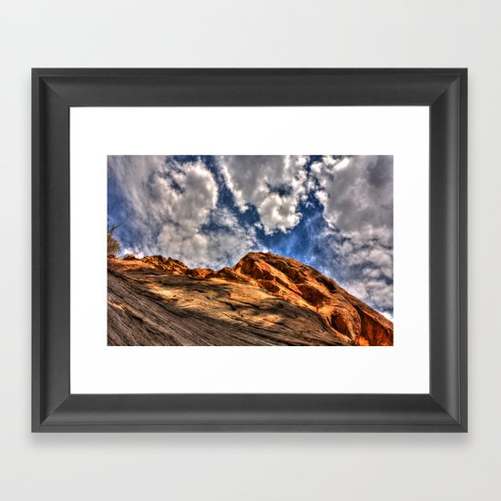 Blue and Orange Framed Art Print