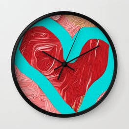 The Heart is a Simple Thing Abstract No. 2 Wall Clock