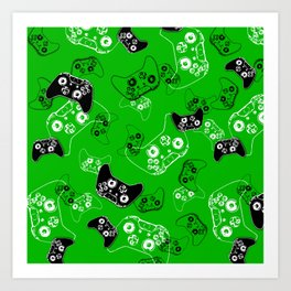 Video Game Green Art Print