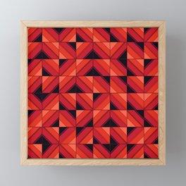 Fake wood pattern Framed Mini Art Print