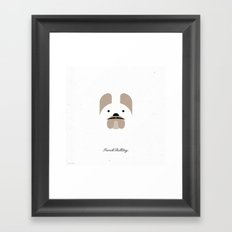 Pedigree: French Bulldog Framed Art Print