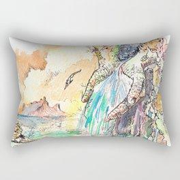 Manos de Marfíl Rectangular Pillow