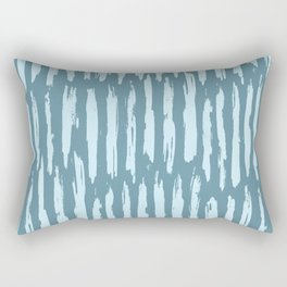 Vertical Dash Turquoise on Teal Blue Rectangular Pillow