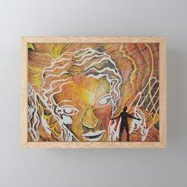 Soaking in her Radiance Framed Mini Art Print