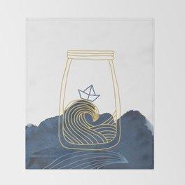 Bottled Sea Throw Blanket