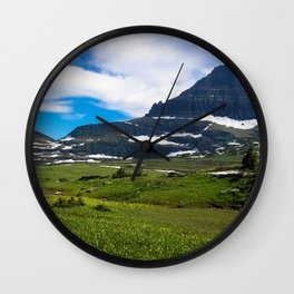 Logans Pass, Glacier National Park Wall Clock