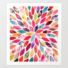 Color Flower Burst Art Print