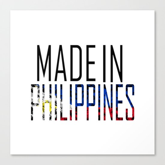 Made In Philippines Canvas Print