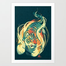 Astral Tiger Art Print