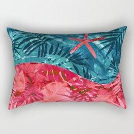 Summer Beach Tropical Pattern Rectangular Pillow