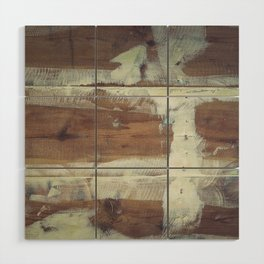 Repaired wooden shipboard Wood Wall Art