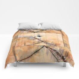 Joys Are My Wings Chickadee Art Comforters