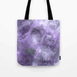 Stormy Abstract Art in Purple and Gray Tote Bag