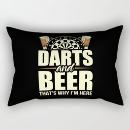 Darts And Beer - That's Why I'm Here Rectangular Pillow