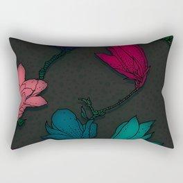 Fun With Coloring Floral Print 4 Rectangular Pillow