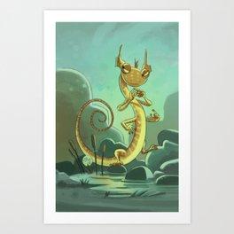 Goblins Drool, Fairies Rule! - Salamander Snoop Art Print