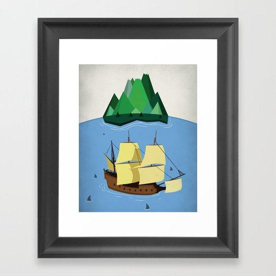 A Galleon on the High Seas Framed Art Print
