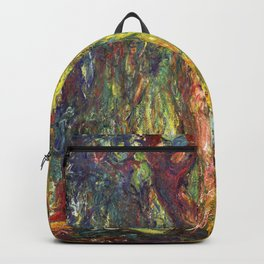 Claude Monet - Weeping Willow - Digital Remastered Edition Backpack