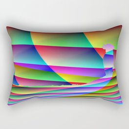 Lonely colorful cow Rectangular Pillow