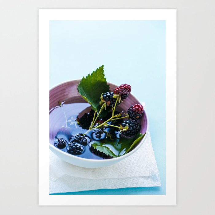 Bowl of Blackberries Art Print
