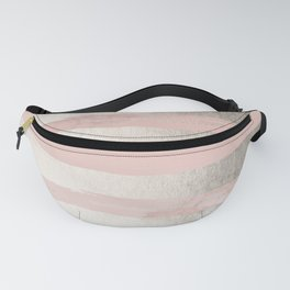 Rose Pastel Marble Stripes II Fanny Pack