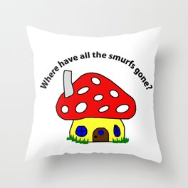 Where have all the smurfs gone? Throw Pillow
