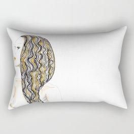 yellow rasta Rectangular Pillow