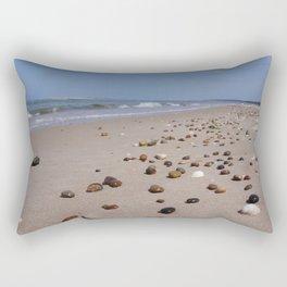 Shiney Stoney Beach - Nairn Scotland - Stones Rectangular Pillow