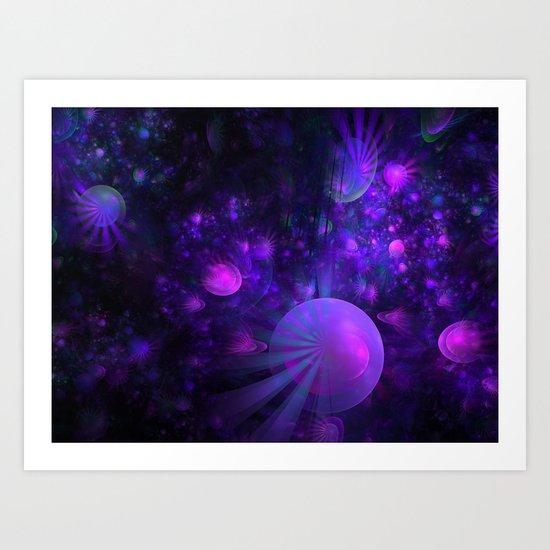 Jellyfish Fields Forever Art Print
