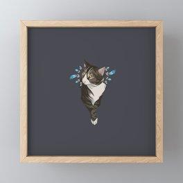 Indian cat Framed Mini Art Print