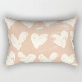 Hearts-Peach Rectangular Pillow