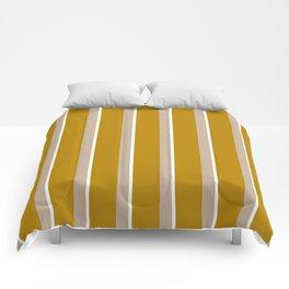 Mustard yellow Nude stripes Comforters