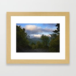Adventure up to Alum Cave Framed Art Print