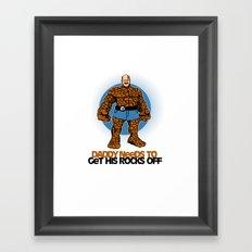 Rocks Off! Framed Art Print