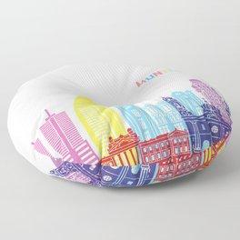 montevideo skyline pop Floor Pillow