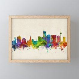 Essen Germany Skyline Framed Mini Art Print