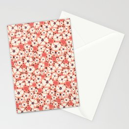 A Peony shower in coral Stationery Cards