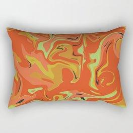Papaya Juice Rectangular Pillow