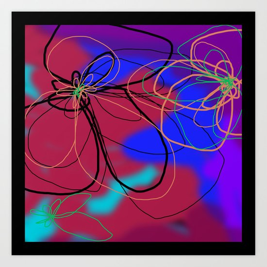 Flower and Water Four Art Print