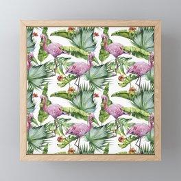 Flamingo Jungle #society6 #buyart Framed Mini Art Print