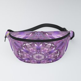 Truth Mandala in Purple, Pink and White Fanny Pack