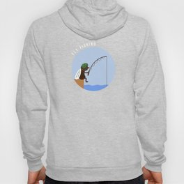 Funny Fly Fishing Baitcaster Angling Nymphs Gift Hoody