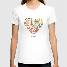 I Love Ukraine Womens Fitted Tee LARGE White