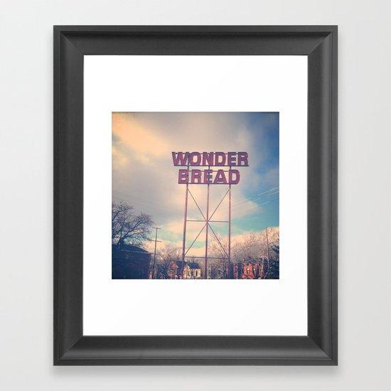 Always Wonder Framed Art Print