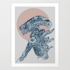 Floral Alien Art Print