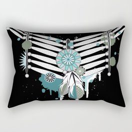 Indian necklace with feathers Rectangular Pillow