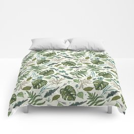 Green leaves pattern Comforters